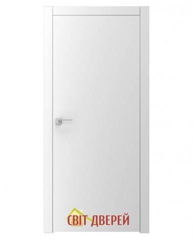 A1 белая гладкая межкомнатная дверь