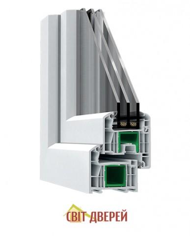 Балконный блок S600, (70 мм) БД MACO,Белый