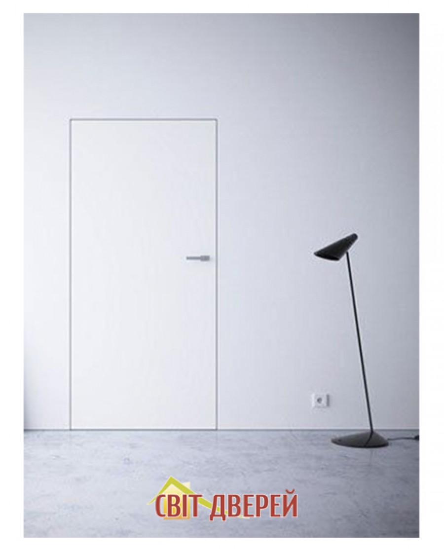 Скрытые двери в покраске без алюминиевого обклада