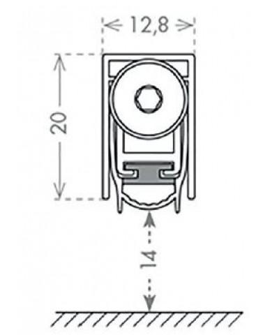 Порог автоматический алюминиевый с резин. вставкой