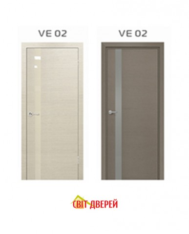 EcoVeneer Evolution VE-02 дуб белый+стекло белое (склад)