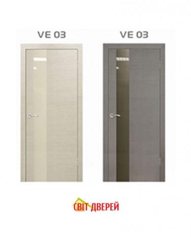 EcoVeneer Evolution VE-03 дуб белый / серый+стекло белое