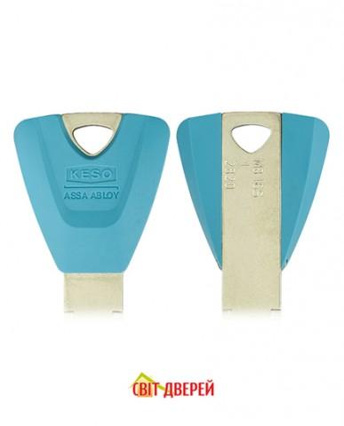 Цилиндр KESO DIN_MOD_KT B 8000_Ω2 100 NM 50x50T TO_NM CAM30 3KEY TR_PETROL_LONG_38mm BOX