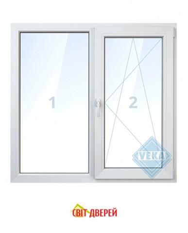 Окно Veka IQ (4SPN-12Ar-4-8-4і)  1300х1400мм